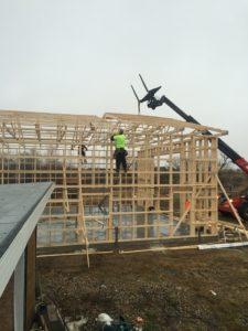 Saskatoon wall & roof truss installation