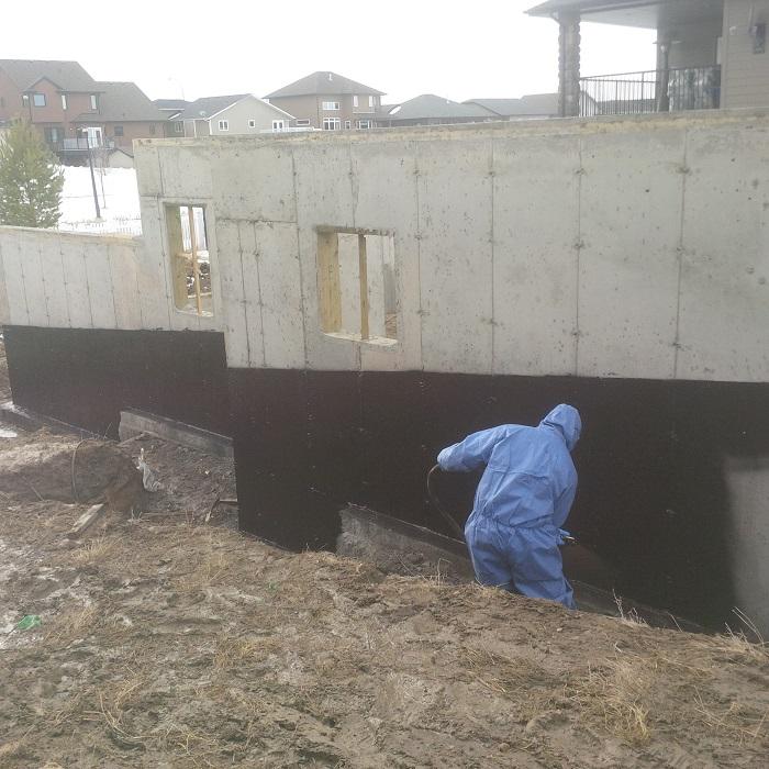 Basement Moisture New Construction: Basement Waterproofing Product: Watchdog Waterproofing